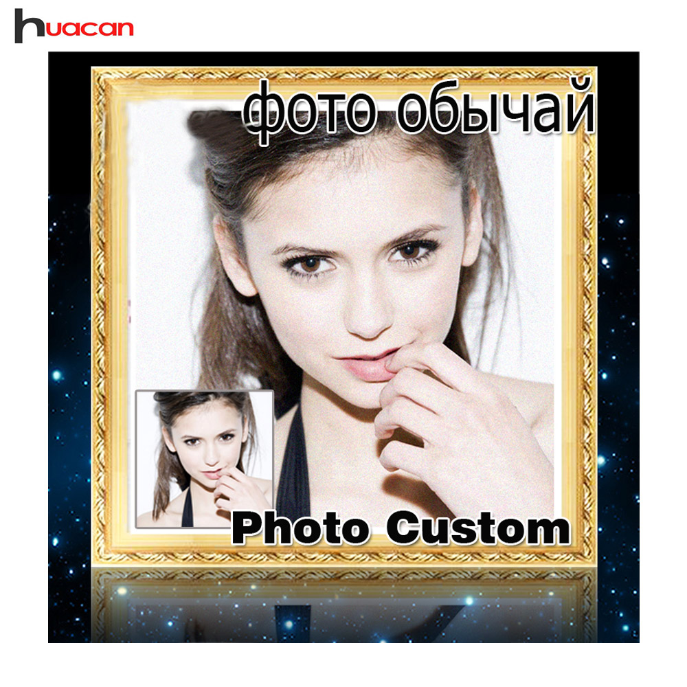 DIY Photo Custom timantti maalaus Kuva Rhinestones Diamond kirjonta helmityö Diamond Mosaic Cross Stitch Home Decoration