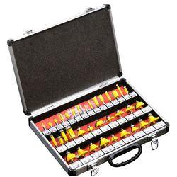 """1 piece35PCS 1/4 """"(6.35mm) narzędzia diy z uchwytem drewniana frez młyn grawerowanie wykończenia frez do drewna nóż do przycinania formowania Millin w Zestawy elektronarzędzi od Narzędzia na"""