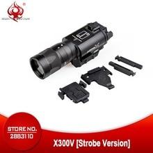 야간 진화 Surefir X300 전술 권총 손전등 LED300 루멘 맞는 20mm 레일 스트로브 권총 라이트 무기 총 라이트 NE01010