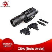 Surefir linterna de pistola táctica X300, iluminación led de 300 lúmenes para pistola estroboscópica de 20mm, NE01010