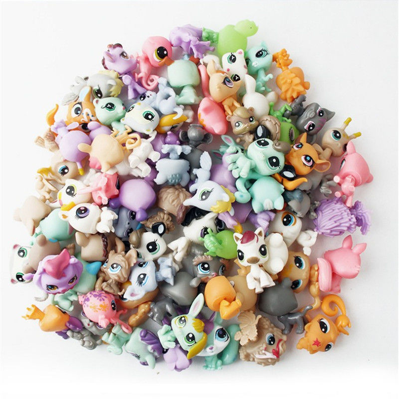 10pcs Children Magic Lol Pop Animals Model Toys Funny Pet Hatch Ball Girls And Boys Originality Little Gift