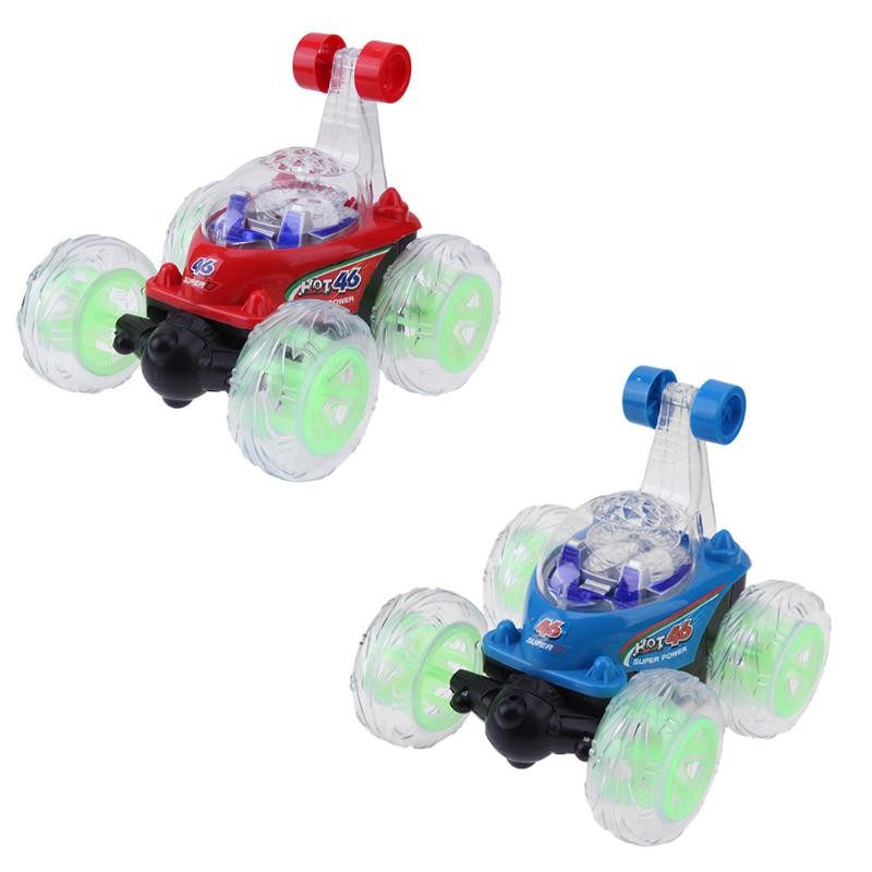 360 Degree Rolling Stunt Car Toy Children Educational Toy Stunt Car Rolling Rotating RC Car Wheel Vehicle