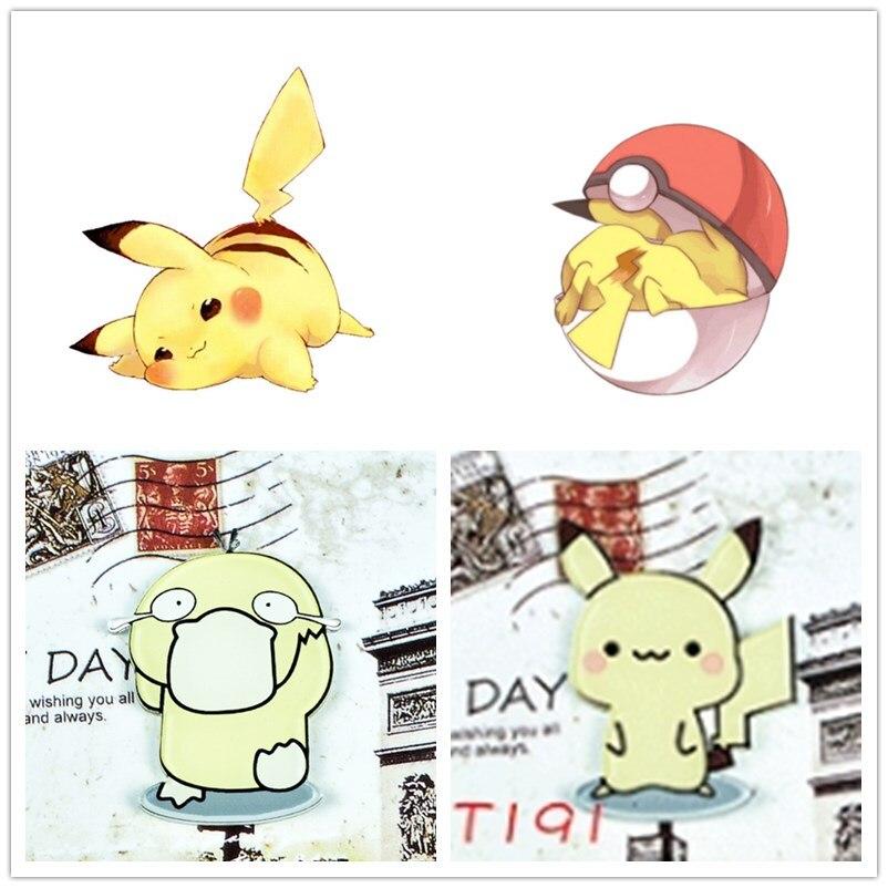 1PC Fashion Cartoon Pikachu Pokemon Icons Style Pin Badge Buttons Super Monster Go Pokeball  Brooch Anime Denim Lapel Pin