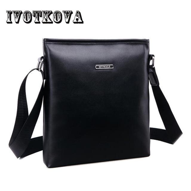 94fc1b1fc456 IVOTKOVA New Vintage Bags For Men Brand PU Leather Messenger Bag Casual  Men s Bag Shoulder Bags iPad Holder Gift