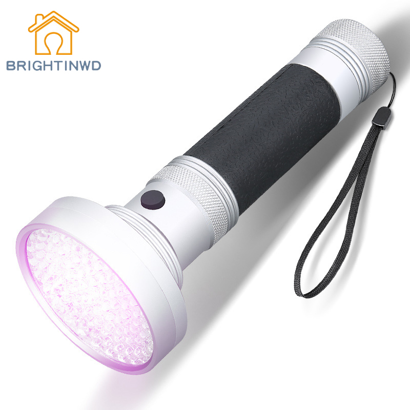 BRIGHTINWD Purple Flashlight 395 Nm UV Flashlight Currency Germicidal Lamp To Catch The Dice Nail Light Detection Hunting Lights cylindrical led white light flashlight currency detection keychain silver 3 x lr44