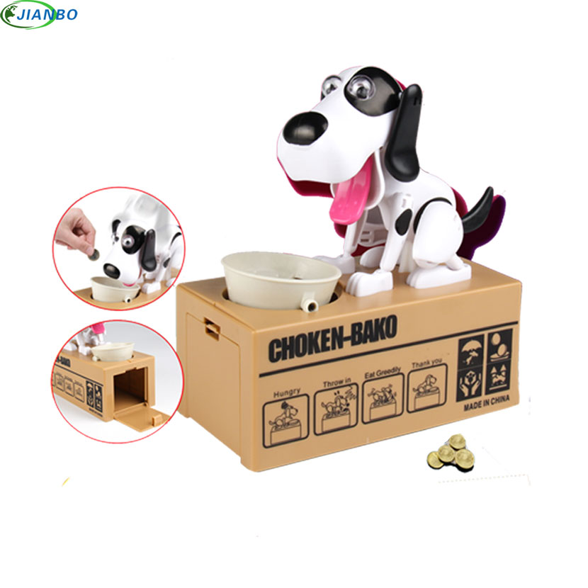 1pcs Cartoon Robotic Dog Banco Safe Money Box Money Automatic Stole Coin Plastic Piggy Bank Money Saving Bank Gift Money Box funny automatic stole coin bombay cat money box gifts for kids