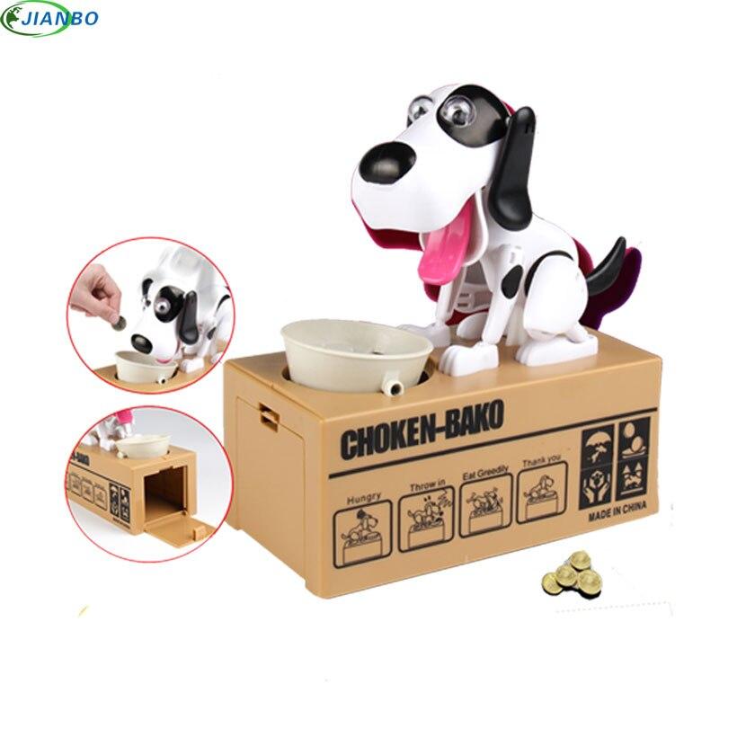 1pcs Cartoon Robotic Dog Banco Safe Money Box Money Automatic Stole Coin Plastic Piggy Bank Money Saving Bank Gift Money Box