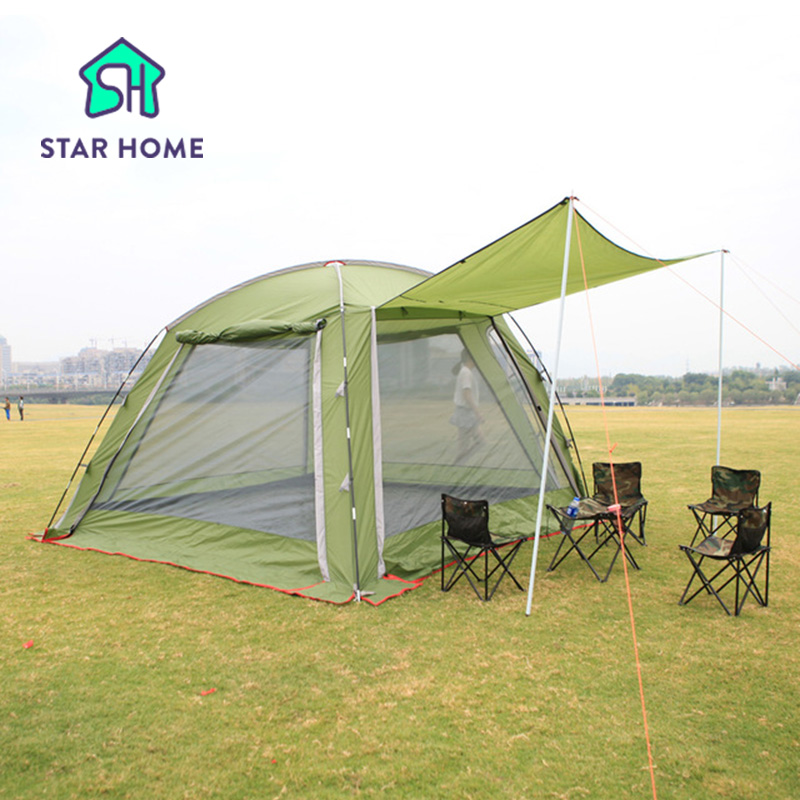 Star home 2016 Super Big Family Camping Tent For 8 Party Tent Beach Camping Tent Family Party With Breathable Nets 520*430*210cm