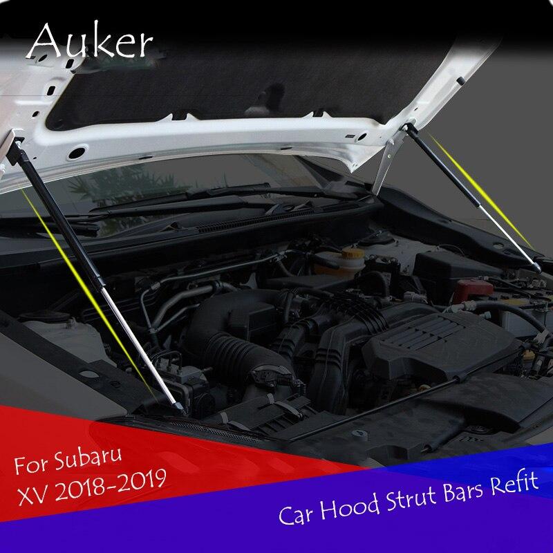 Para Subaru XV 2018 2019 Reequipamento Carro-styling Bonnet capa Choque Gás Lift Strut Bares Haste de Apoio