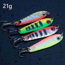 Offre spéciale 4 pièces cuillère en métal de haute qualité Leurre de pêche appât de pêche en eau de mer leurres gabarits Leurre pêche Jig Wobbler 65mm 21g