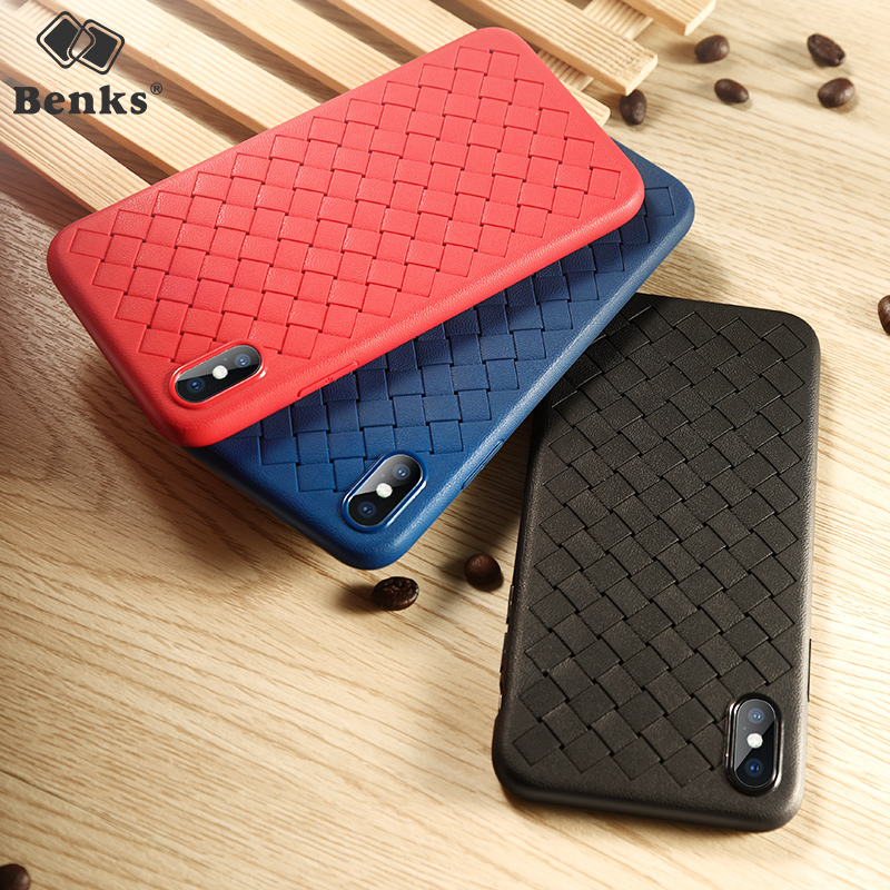 High quality braid classic style case for Iphone X 6 6S 7 8 plus soft tpu back cover full coverage weave cases for Iphone 8 plus