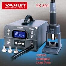 YAXUN YX891 المهنية خالية من الرصاص مسدس هواء ساخن محطة لحام ذكي شاشة ديجيتال 1000 واط عالية الطاقة محطة إعادة العمل