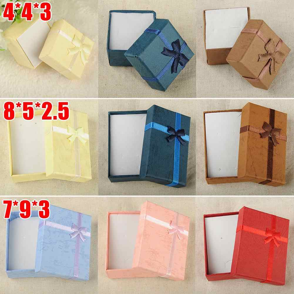 Fashion Colorful 1PC New 4x4x3cm/8x5x2.5cm/9x7x3cm Jewery Organizer Box Rings Storage Cute Box Small Gift Box For Rings Earrings