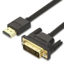 HDMI to DVI Male 24+1 DVI-D Adapter Video Cable Gold Plated 1080P for HDTV DVD Projector 1m 2m 3m 5m High Speed