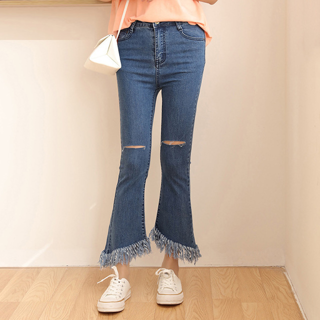 Aliexpress.com : Buy high waisted flare jeans femme denim skinny ...