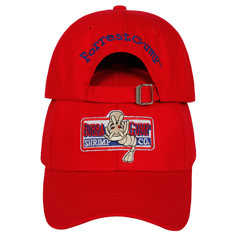 BUBBA GUMP Shrimp Baseball Cap For Men And Women Sports Hats Summer Cap Embroidered Casual Hat Forrest Gump Hats Costume Wholesa