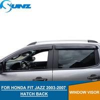 for HONDA FIT JAZZ 2003 2007 Window Visor deflector Rain Guard for HONDA FIT 2003 2004 2005 2006 2007 HATCH BACK SUNZ