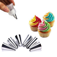 7Pcs/Pack Icing Piping Nozzles DIY Cake Decoration Tips Rose Cream Cake Pastry Baking Tool With Adaptor Coupler Free Shipping