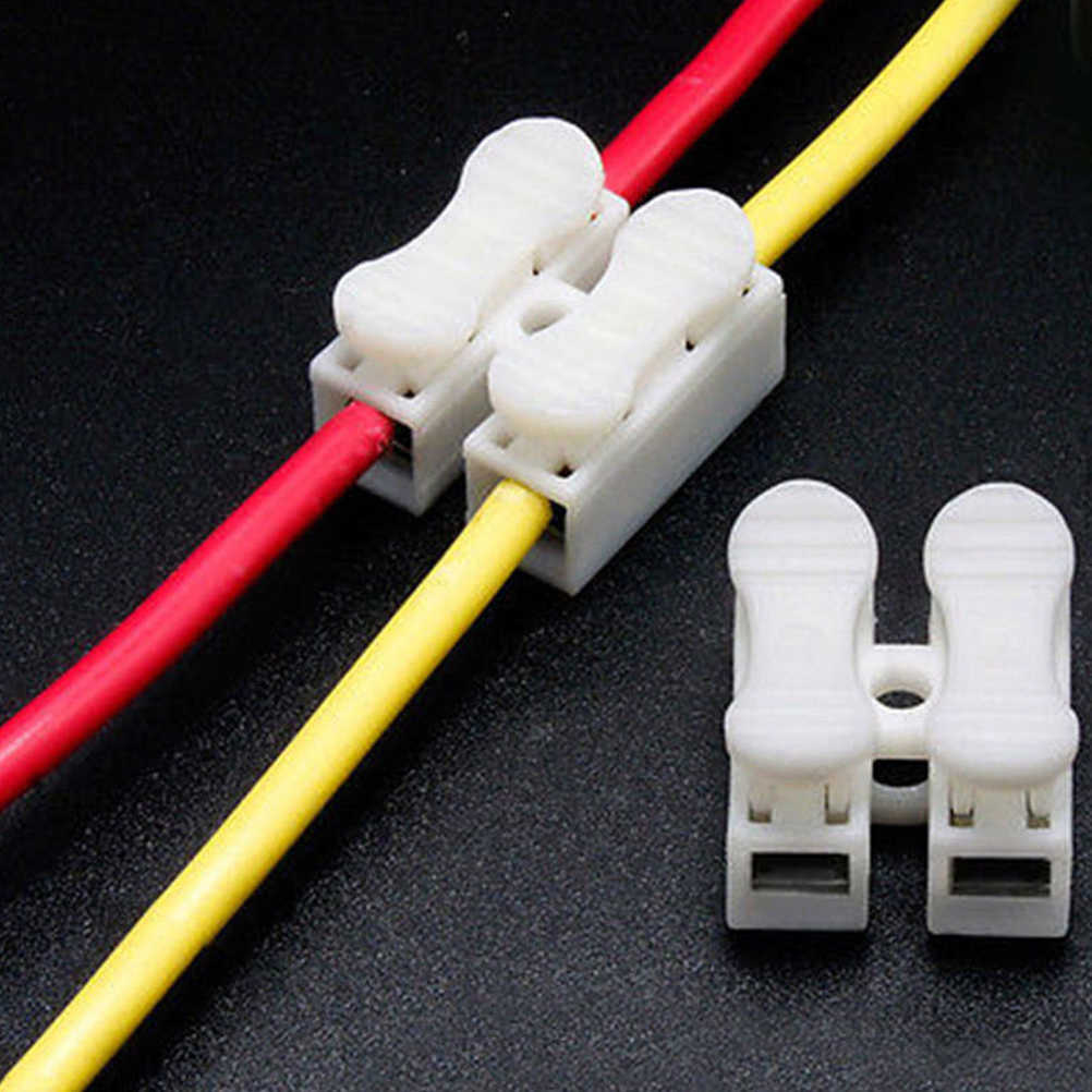 الجملة 30 قطعة/الوحدة سريعة لصق قفل موصلات الأسلاك CH2 2 دبابيس محطات الكابلات الكهربائية 20x17.5x13.5 مللي متر