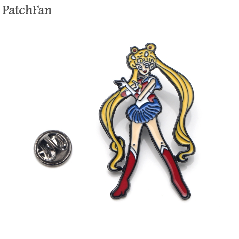 Diplomatic Patchfan Sailor Moon Luna Cat Cartoon Zinc Tie Funny Pins Backpack Clothes Brooches For Men Women Badges Medals A1476 Apparel Sewing & Fabric