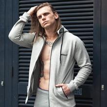 Metropolitan Sportswear Fitness Cardigan Zipper Jacket, Slender Long Sleeve Running Training Suit, Cap Mens Jacket