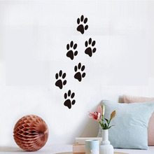 Funny Dog Cat Paw Print Poster Interesting Wall Art For Kids Room Diy Cabinet Door Kitchen Fridge Car Stickers Home Decor