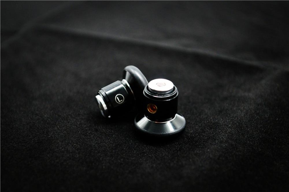100% Nieuwste FENGRU DIY Platte hoofd Metalen oortelefoon DIY Dynamic Drive Unit oortelefoon HiFi oortje met MMCX Interface - 6
