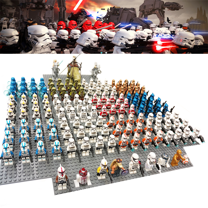Star Wars Clone Storm Clone Trooper Soldier With Weapons Rebels Imperial Compatible Brick Building Block Mini Kid Toy 16pcs/lot