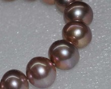 Outstanding Natural RARE Golden Purple AAA 15mm Near Round Nuclear Pearls 10050