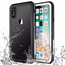 For iPhone X Xs Waterproof case life water Shock Dirt Snow Proof Protection for iPhone Xs 5.8 inch case With Touch ID Cover Skin for iphone xs max ip68 waterproof case water shock dirt snow proof protection for iphone xs with touch id case cover