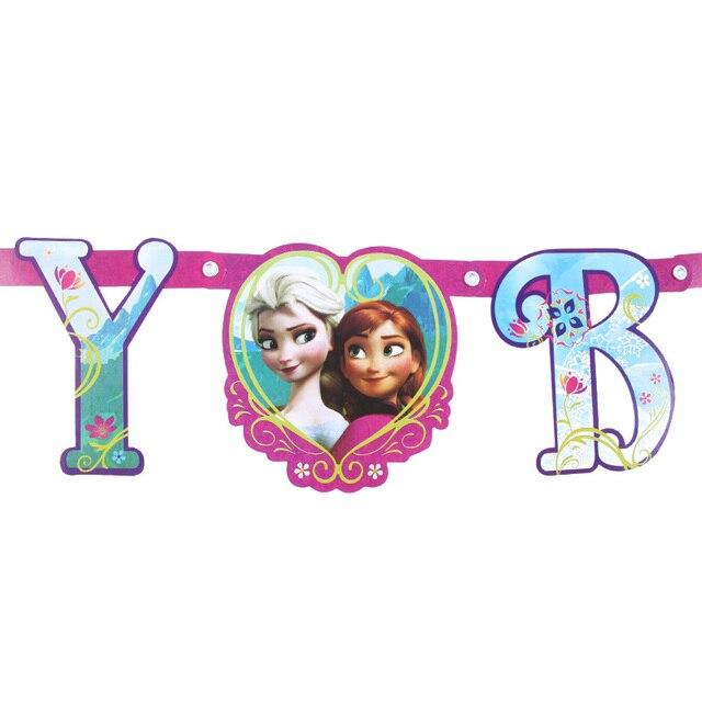 Anna e Elsa Principessa Di Compleanno Decorazioni Festa per bambini Stoviglie Usa E Getta Decorazioni Festa di Compleanno Forniture 6