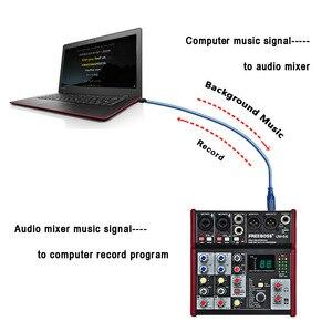 Image 5 - Freeboss UM 66 4 チャンネル 16 デジタル効果 24 ビット dsp プロセッササウンドカード (ホールルームプレート遅延エコー) 記録オーディオミキサー