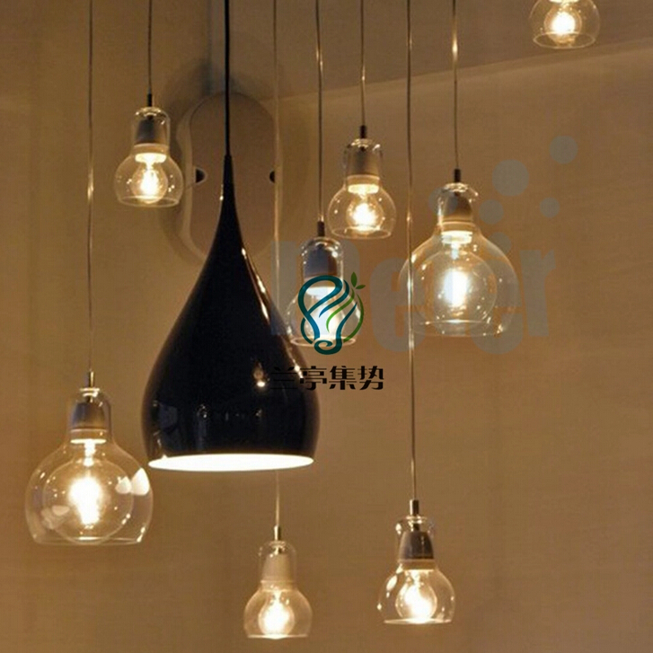 Nordic brief personalized big bulb glass pendant lights 11cm amber nordic brief personalized big bulb glass pendant lights 11cm amber glass lampshade lamp lighting light fixtures e27 bar hanglamp in pendant lights from aloadofball Images