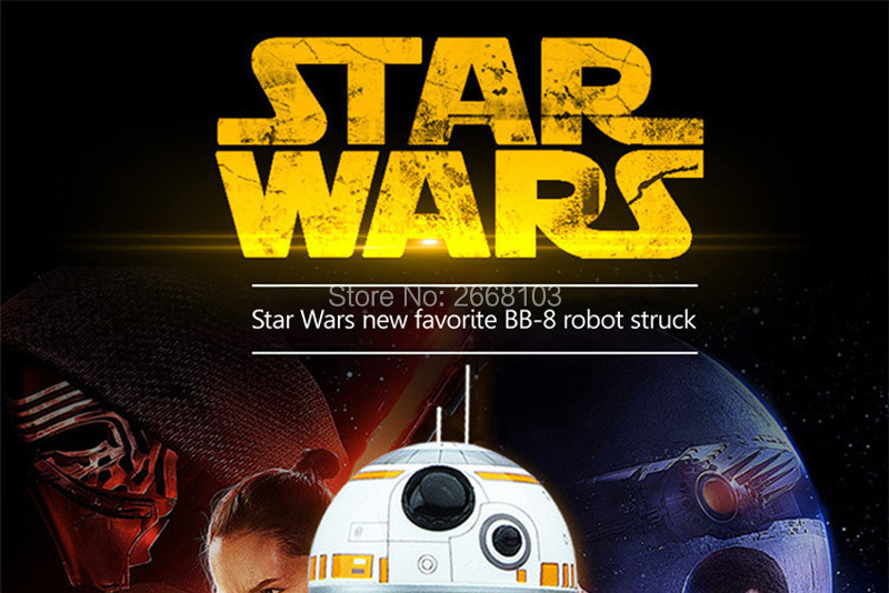 Upgrade Model Ball Star Wars RC BB-8 Droid Robot BB8 Intelligent Robot 2.4G Remote Control Toys For Girl Gifts With Sound Action 1