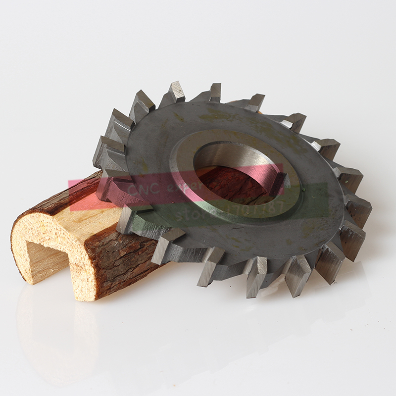 1PCS 125*5*6*8*10*12*14*16*18*20 HSS three straight tooth blade cutter, high speed steel Slot milling cutter , milling cutter