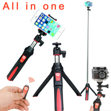 BENRO MK10 4 in 1 Extendable Selfie Stick Monopod mini Tripod Phone Stand Holder Mount Bluetooth Remote for iPhone Android