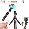 Mk10 4 em 1 selfie vara extensível monopé benro mini tripé titular suporte do telefone de montagem remoto bluetooth para iphone android