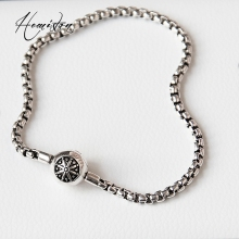 Thomas Blackened Silver Color Bracelet Fit Karma Beads, European Style Fit PD Bracelet, Gift For Women Or Men