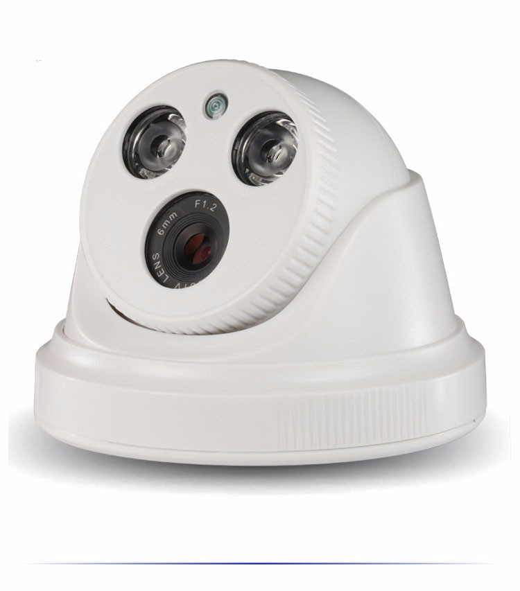 White ABS Plastic HaiKang Two Array Leds CMOS 1080P,960p,720P Dome AHD CCTV Camera picture 01