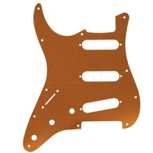Yibuy Bronze 11 Holes SSS Plated Single Pickguard for Electronic Guitar