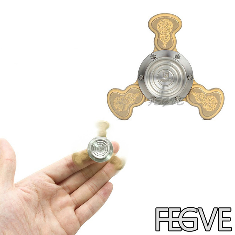 FEGVE Top Quality Fidget Spinner Engrave Logo Titanium EDC Hand Spinner For Autism and ADHD Anxiety Stress Relief Focus Toys supology led light hand finger spinner plastic edc tri spinner for autism and adhd relief focus anxiety stress for gift toys