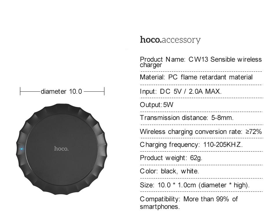 HOCO original Qi Wireless Charger Desktop Wireless Charging _12