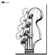 Здесь можно купить   CHENFART Canvas Abstract Pictures Drawing pencil Guitar Decorative Pictures for Living Room no Frame  Home Decor