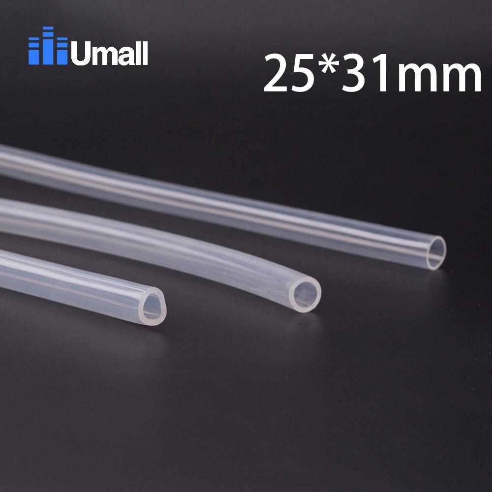 25*31mm Food Grade Medical Use FDA Silicone Rubber Flexible Tube / Hose Pipe