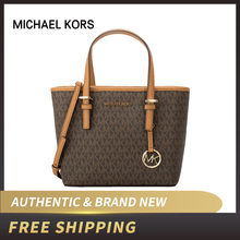 MICHAEL KORS MK LOGO PVC JET SET TRAVEL MEDIUM CARRYALL TOTE BAG  35S9GTGT0B(China)