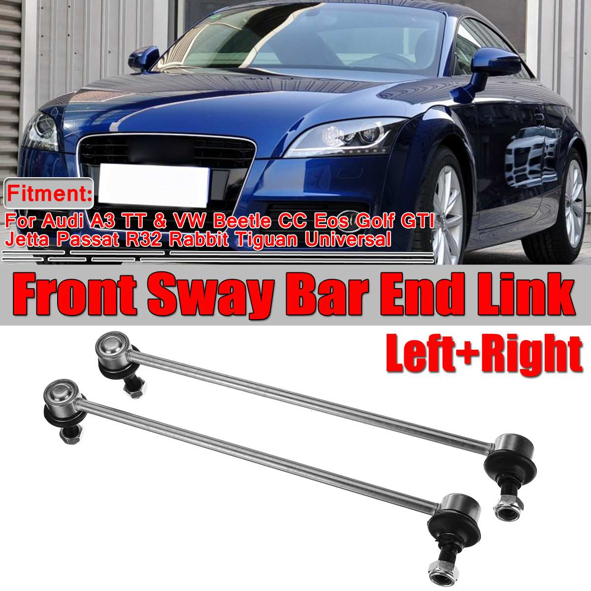 A Pair Car Front Sway Bar End Link For Audi A3 TT For VW For  Golf Eos Beetle Jetta Passat Rabbit AM-479870016