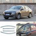 4 unids Nueva Ahumado Claro Ventana Vent Shade Visor Carenados Para Peugeot 301