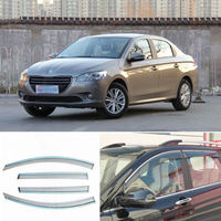 4pcs New Smoked Clear Window Vent Shade Visor Wind Deflectors For Peugeot 301