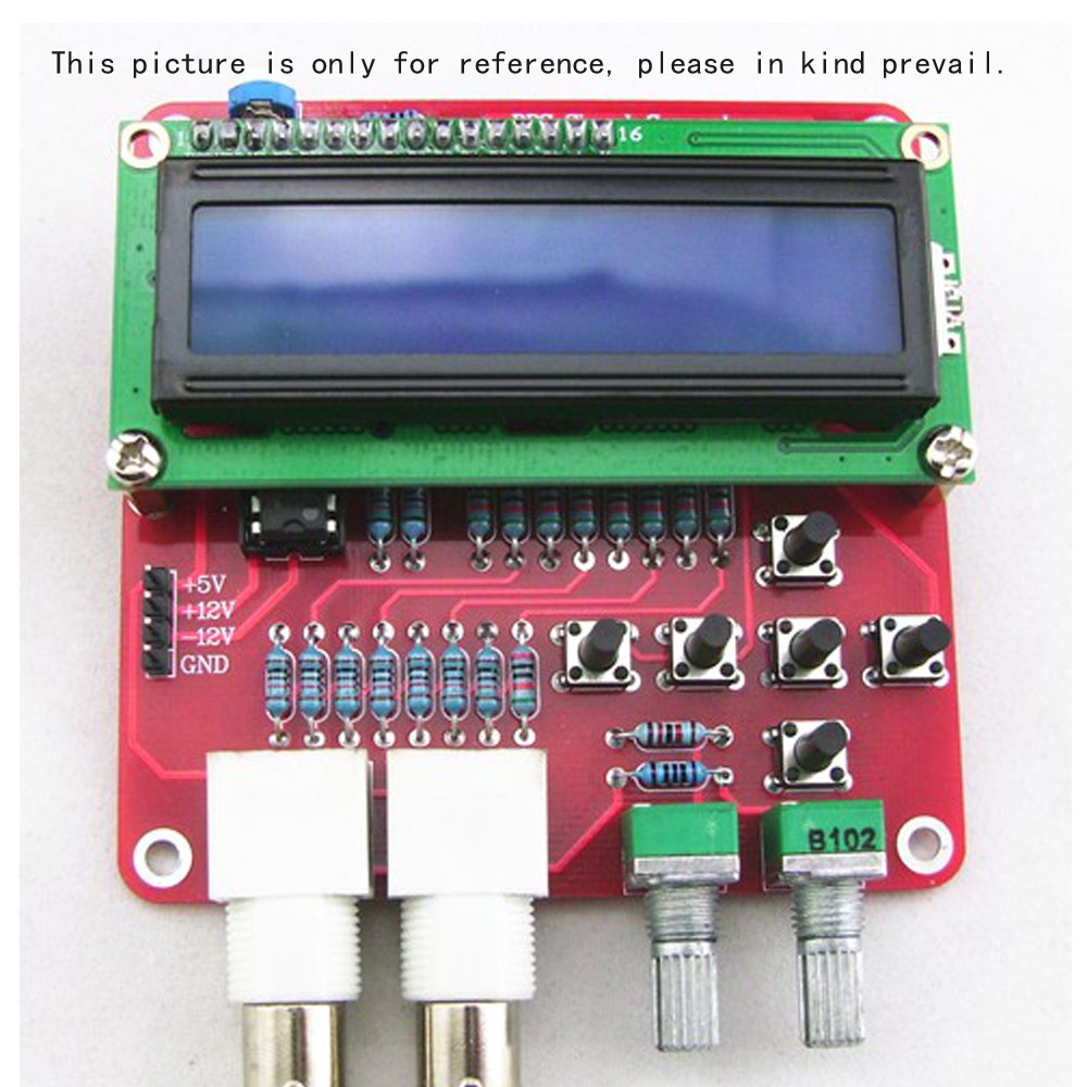 Dds Function Signal Generator Diy Kit Frequency Meter Square Pulse Or Waveform Circuit Sawtooth Triangle Wave Parts Source Components In Generators From