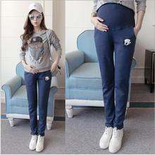 Women Pants High Waist 100%Cotton Casual Maternity Fall Spring  Sports Clothes for Pregnant Trousers Clothing